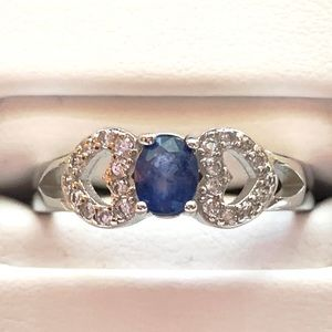 Jewelry - Sapphire and 925 Silver Ring